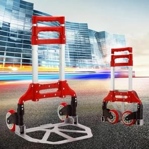 Twee-sectie Vouwen draagbare trolley mini bagage  huishoudelijke boodschappen kleine trolley koffer  belasting 75 kg (Rood)