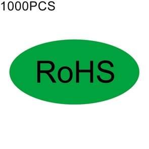 1000 stuks ovaal vorm zelfklevende RoHS Sticker RoHS Label  grootte: 10x20mm