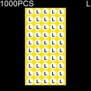 1000 stuks ronde vorm grootte Sticker kleren groottelabel  maat: L