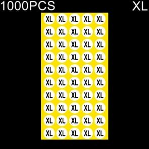 1000 stuks ronde vorm grootte Sticker kleren groottelabel  maat: XL