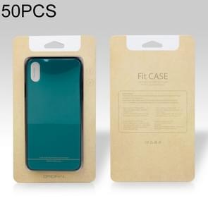 50 PCS High Quality Cellphone Case PVC + Glue Package Box for iPhone (5.5 inch) Available Size: 164mm x 89mm x 7mm(Khaki)