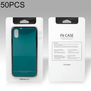 50 PCS High Quality Cellphone Case PVC + Glue Package Box for iPhone (5.5 inch) Available Size: 164mm x 89mm x 7mm(White)