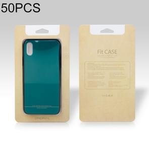 50 PCS High Quality Cellphone Case PVC + Glue Package Box for iPhone (4.7 inch) Available Size: 148mm x 78mm x 7mm(Khaki)