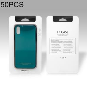 50 PCS High Quality Cellphone Case PVC + Glue Package Box for iPhone (4.7 inch) Available Size: 148mm x 78mm x 7mm(White)
