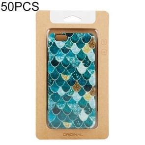 50 PCS High Quality Cellphone Case Kraft Paper Package Box for iPhone (4.7 inch)Available Size: 148mm x 78mm x 7mm(Gold)
