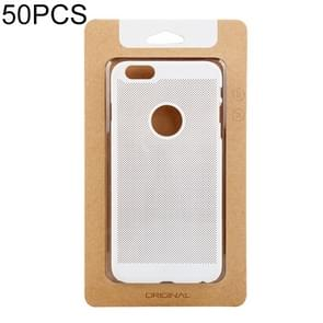50 PCS High Quality Cellphone Case Kraft Paper Package Box for iPhone (5.5 inch) Available Size: 164mm x 89mm x 7mm (Gold)