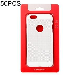 50 PCS High Quality Cellphone Case Kraft Paper Package Box for iPhone (5.5 inch) Available Size: 164mm x 89mm x 7mm (Red)