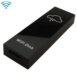 Ibank Mini WiFi Wireless Storage Box Hard Drive Disk USB Driver Card Reader with 700mAh Battery for Mobile Phones & Tablets, Compatible with Android 3.0 or Above and IOS 5.1.1 or Above, Support Micro SD Card / TF Card up to 128GB, Size: 84 x 28 x 12 mm(Bl