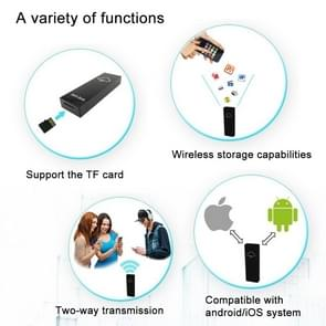 Ibank Mini WiFi Wireless Storage Box Hard Drive Disk USB Driver Card Reader with 700mAh Battery for Mobile Phones & Tablets, Compatible with Android 3.0 or Above and IOS 5.1.1 or Above, Support Micro SD Card / TF Card up to 128GB, Size: 84 x 28 x 12 mm(Go