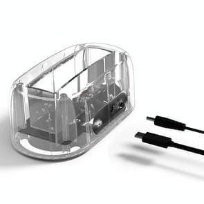 ORICO 6139C3 2.5 / 3.5 inch Transparent USB 3.1 Gen1 Type-C Hard Drive Dock Station(Transparent)