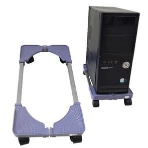 Computer Mainframe Host Adjustable Mobile Base Bracket with Wheel, 43-55cm Length Adjustable, 22-34cm Width Adjustable