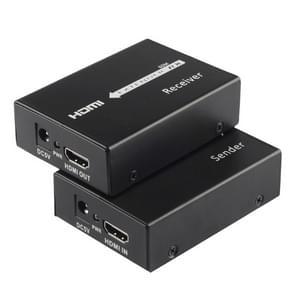 HDMI Extender (zender & ontvanger) over een enkele CAT5e/CAT6 Kabel met IR, verzend afstand: 60 meter (zwart)