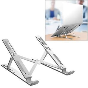 Aluminum Alloy Laptop Height Extender Holder Stand Folding Portable Computer Heat Dissipation Bracket, Size: 24x16.5x5.5cm (Silver)