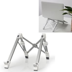 Aluminum Alloy Laptop Height Extender Holder Stand Folding Portable Computer Heat Dissipation Bracket, Size: 24.5x3.3x2.8cm (White)