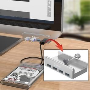 ORICO MH4PU aluminium legering 4 poorten USB 3.0 Clip-type HUB met 1m usbkabel  Clip breedte bereik: 10-32mm