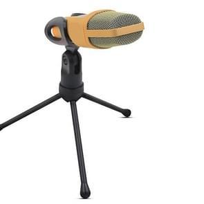 Yanmai SF666 Professional geluid opname condensatormicrofoon met statief houder  kabellengte: 1.3 m  compatibel met PC en Mac voor Live uitgezonden Show  KTV  etc.(Gold)