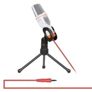 Yanmai SF666 Professional geluid opname condensatormicrofoon met statief houder  kabellengte: 1.3 m  compatibel met PC en Mac voor Live uitgezonden Show  KTV  etc.(White)