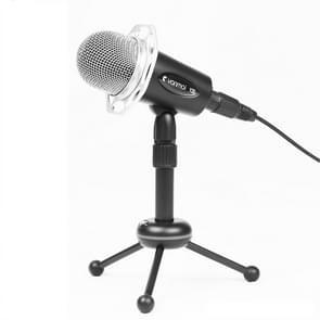Yanmai Y20 Professional spel condensatormicrofoon met statief houder  kabellengte: 1.8 m  compatibel met PC en Mac voor Live uitgezonden Show  KTV  etc.(Black)