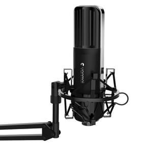 Yanmai Q8 Professional Game geluid opname condensatormicrofoon met houder  compatibel met PC en Mac voor Live uitgezonden Show  KTV  etc.(Black)