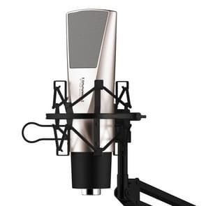 Yanmai V6 Professional Game geluid opname condensatormicrofoon met houder  compatibel met PC en Mac voor Live uitgezonden Show  KTV  etc.(Black)