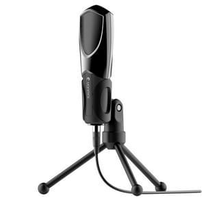 Yanmai Q3 USB 2.0 Game Studio geluid opname condensatormicrofoon met houder  compatibel met PC en Mac voor Live uitgezonden Show  KTV  etc.(Black)