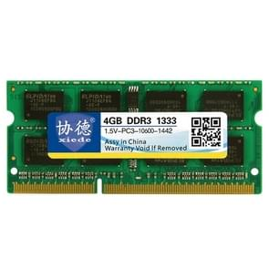 XIEDE X043 DDR3 1333MHz 4GB 1.5V General Full Compatibility Memory RAM Module for Laptop