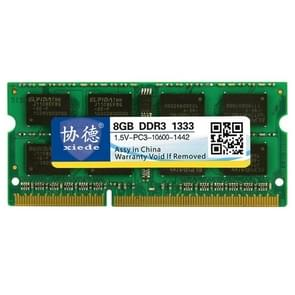 XIEDE X044 DDR3 1333MHz 8GB 1.5V General Full Compatibility Memory RAM Module for Laptop