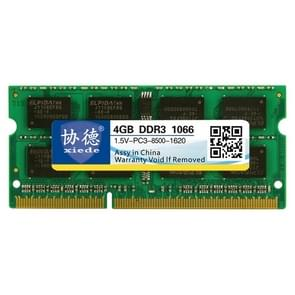 XIEDE X093 DDR3 1066MHz 4GB 1.5V General Full Compatibility Memory RAM Module for Laptop