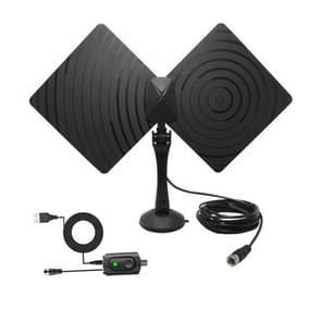 AN-1008B 5dBi/25dBi Indoor HDTV Antenna with Holder, VHF170-230/UHF470-862MHz(Black)