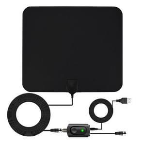 AN-1002 5dBi/25dBi Indoor HDTV Antenna with Sucker, VHF170-230/UHF470-862MHz(Black)