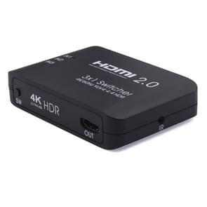 AYS-31V20 HDMI 2.0 3x1 4K Ultra HD Switch Splitter (Black)