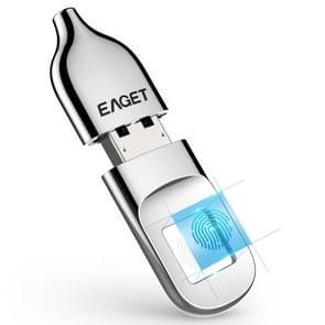 EAGET FU5 32GB USB 2.0 Fingerprint Encryption Password U Disk (Silver)