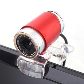 HXSJ A860 30fps 12 Megapixel 480P HD Webcam for Desktop / Laptop, with 10m Sound Absorbing Microphone, Length: 1.4m(Red)