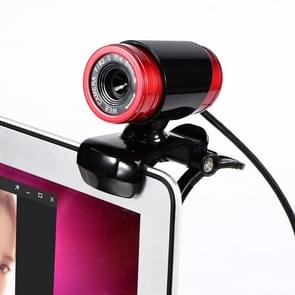 HXSJ A860 30fps 12 Megapixel 480P HD Webcam for Desktop / Laptop, with 10m Sound Absorbing Microphone, Length: 1.4m(Red + Black)