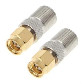 2 PCS SMA Female to F Female RF Coaxial Connector