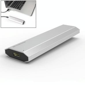 USB-C / Type-C to M.2 NVME SSD Hard Drive Enclosure, Transmission Rate: 10GB(Silver)