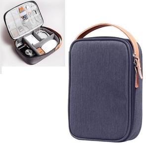 Multi-function Headphone Charger Data Cable Storage Bag, Ultra Fiber Portable Power Pack, Size: L, 12x5x26cm (Blue)