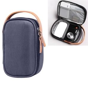 Multi-function Headphone Charger Data Cable Storage Bag, Ultra Fiber Portable Power Pack, Size: S, 11x5.5x18cm(Blue)