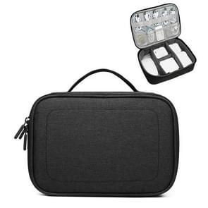 Multi-function Headphone Charger Data Cable Storage Bag, Single Layer Storage Bag, Size: 12x5x26cm(Black)
