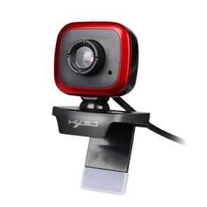 HXSJ A849 480P Verstelbare 360 Graden HD-videowebcam-pc-camera met microfoon (zwart rood)
