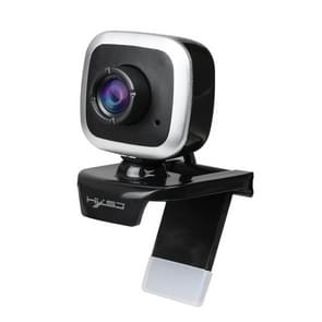 HXSJ A849 480P Verstelbare 360 graden HD Video Webcam PC Camera met microfoon (Zwart Zilver)