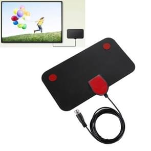 DVB-T2 50 Miles Range 20dBi High Gain Amplified Digital HDTV Indoor TV Antenna with 3.7m Coaxial Cable
