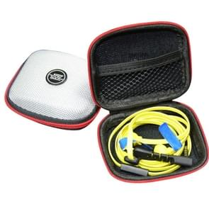 KZ Data Wire Lader Koptelefoon draagbare EVA Logo Receiving hoesje Arrange Package(zilver)