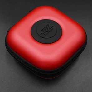 KZ Data Wire Charger Oortelefoon Draagbare PU Ontvangstcase (Rood)