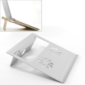 Universal Portable Foldable Hollow Radiating Aluminum Laptop Desktop Stand for Laptops Under 17 inch(Silver)