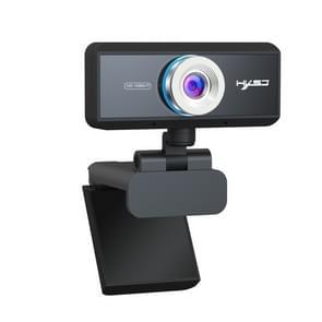 HXSJ S4 1080P verstelbaar 180 graden HD handmatige focus vedio webcam PC camera met microfoon (zwart)