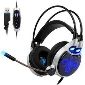 SADES SA908 Physical 7.1 Surround USB Interface Vibration Volume Control Gaming Headset, Cable Length: about 3m, For PC, Laptops, Computers, PS4, iPhone, iPad, iPod, Samsung, HTC, Sony, Huawei, Xiaomi, and Other Audio Devices