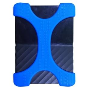X Type 2.5 inch Portable Hard Drive Silicone Case for 2TB-4TB WD & SEAGATE & Toshiba Portable Hard Drive, without Hole (Blue)