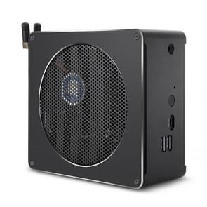 Mini-PC voor Intel Core 8th gen i7-8750H 8G + 256G Six Core 2.2-4.1 GHz  met ventilator & antenne  ondersteuning Bluetooth 4 2 & 2.4 G/5.0 G Dual-band WiFi & RJ45 Gigabit bedrade netwerkkaart (zwart)