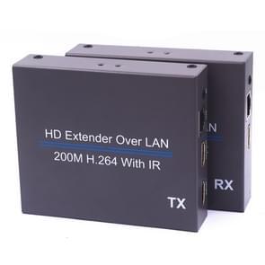 NK-E200IR 200m Over LAN HDMI H.264 HD (Transmitter + Receiver) Extender with IR